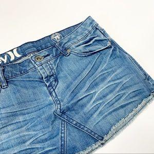 Hurley Vintage Denim 72 Mini Skirt